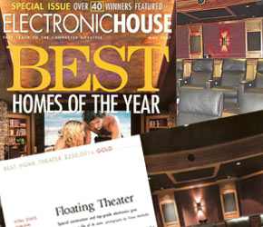 Award winning home theater including woodworking by True Wood Products in Rochester, NY